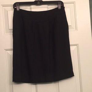 Ann Taylor loft black wool skirt fully lined